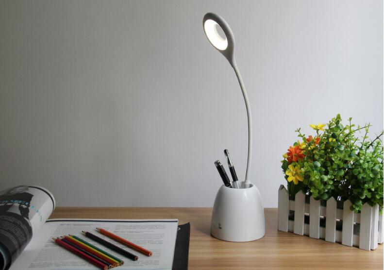 Minimal Led Table Lamp with Pen container