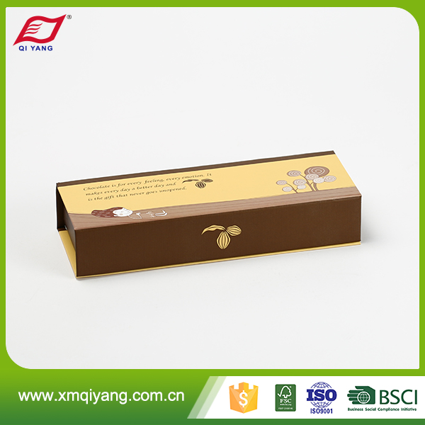 Crazy selling oem custom luxury brown pencil paper box