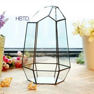 Creative DIY Succulent Plant Geometry Transparent House Glass Flower Pot B03