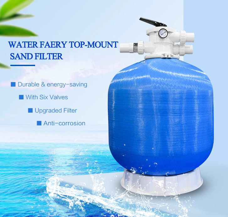Top-mount swimming pool sand filter/swimming pool products water filter