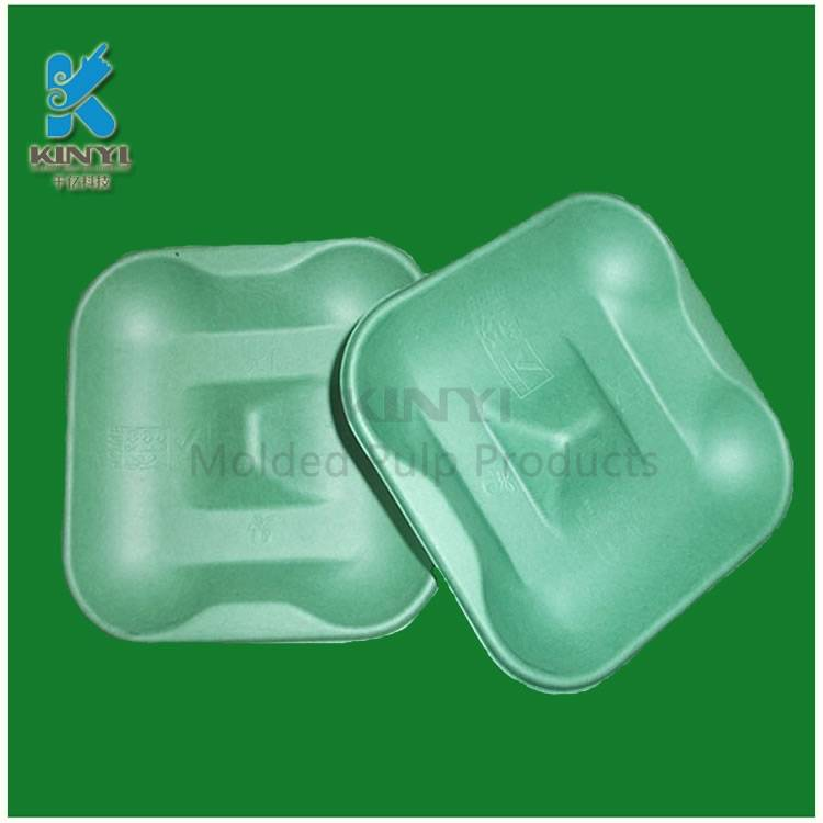 Environmental bagasse pulp mold, fruit packaging tray,container