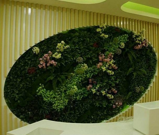 Handmade beautiful artificial plant wall for special decoration