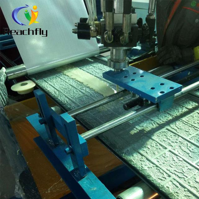 Insulated polyurethane foam wall sandwich panel production line
