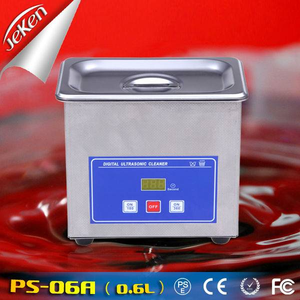 50W Best Used High Quality Portable Ultrasonic Jewelry Cleaner For Sale 0.6l (Jeken PS-06A)