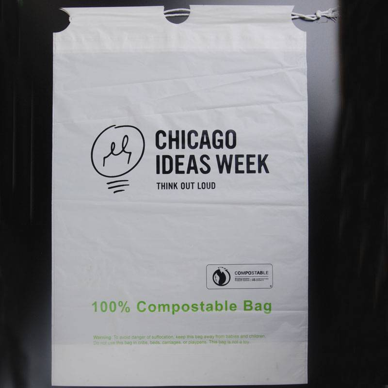 100% biodegradable and compostable drawstring bags