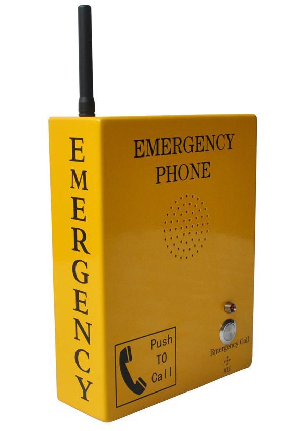 GSM SOS call box one push to talk emergency telephone