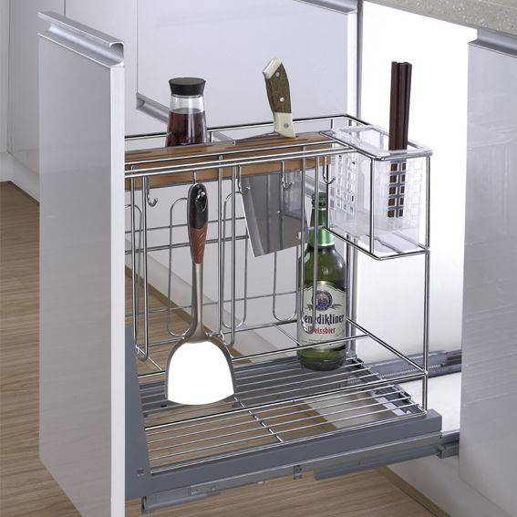 Multi-function Kitchen Drawer Basket with Knife Shelf:170001734