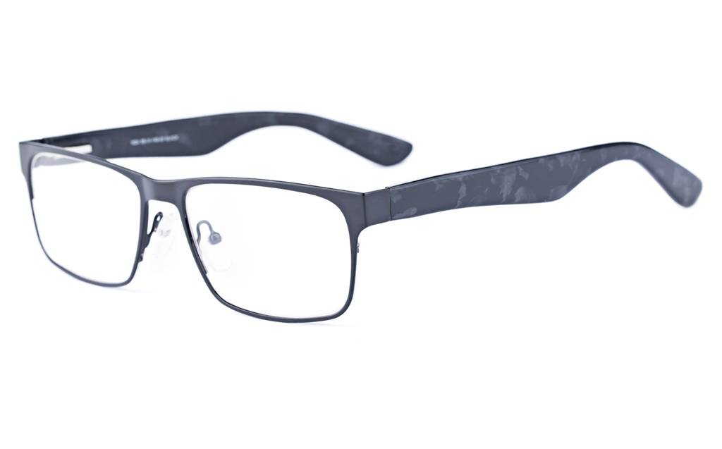 Black 1624 Full Rim Square Metal-Stainless Steel/ZYL Glasses
