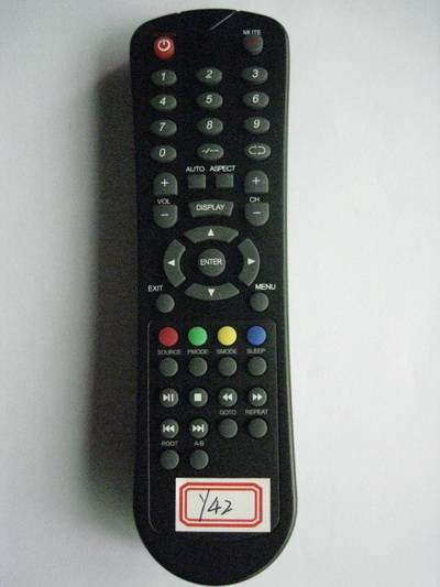 Remote Control for Video & Audio, Universal, Y42-Black