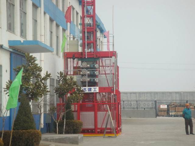 1t 2t 4t single cage double cage Construction elevator