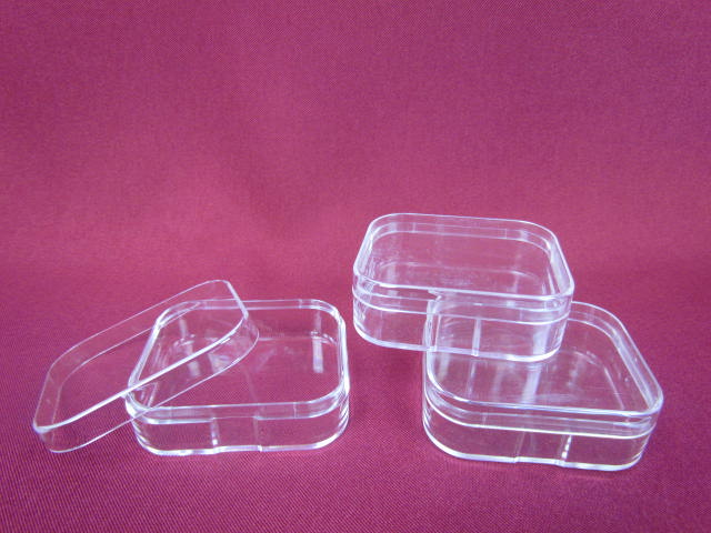 Customzied clear plastic sponge cosmetic makeup puff case