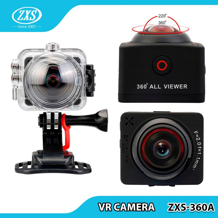 "360 VR Camera 1.5"" FHD 1080P WiFi 360 degree video camera ZXS-360A"