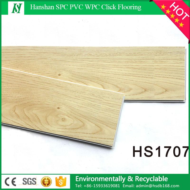 Waterproof and fire proof non-slip eco wood look LVT commercial luxury click lock vinyl plank floor