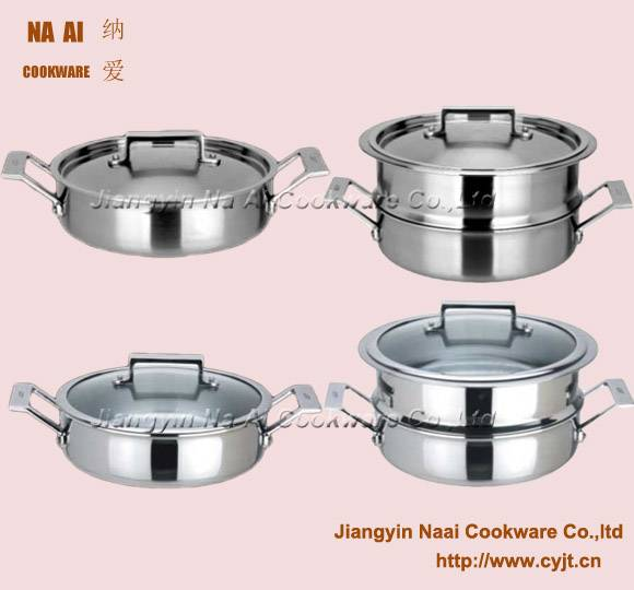 Glass Lid Saute pan with Steamer Set