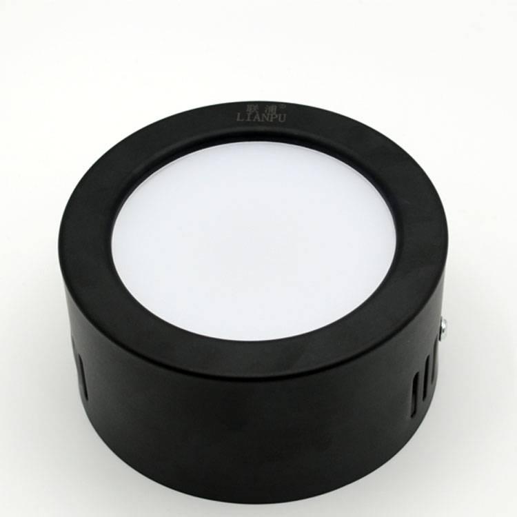 3000k / 4000k /6000k 7w black round ceiling light led light