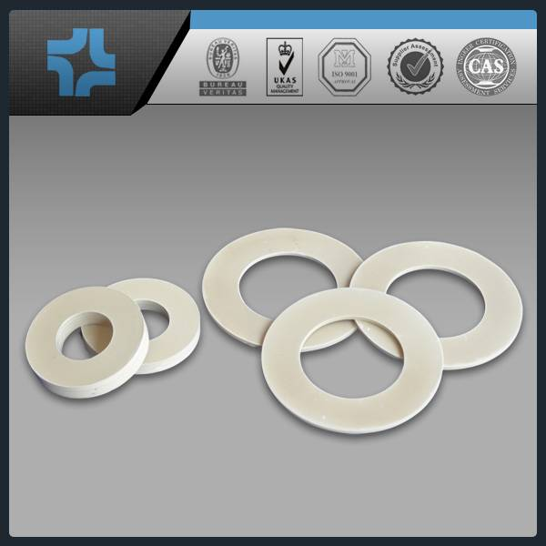 white color 100% virgin pure customerize reinforced ptfe teflon gasket