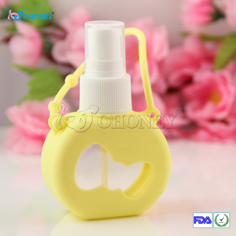new productive silicone hand sanitizer holder case perfume bottle case