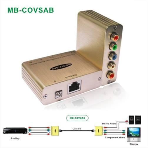Component Video/Stereo Audio Extender via Cat5e/6