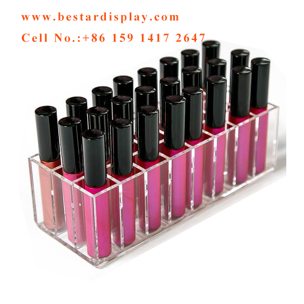 Customized design Plexiglass PMMA acrylic lipstick organizer