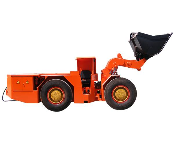 China underground mining articulated hydraulic 4 wheel drive trackless scraper