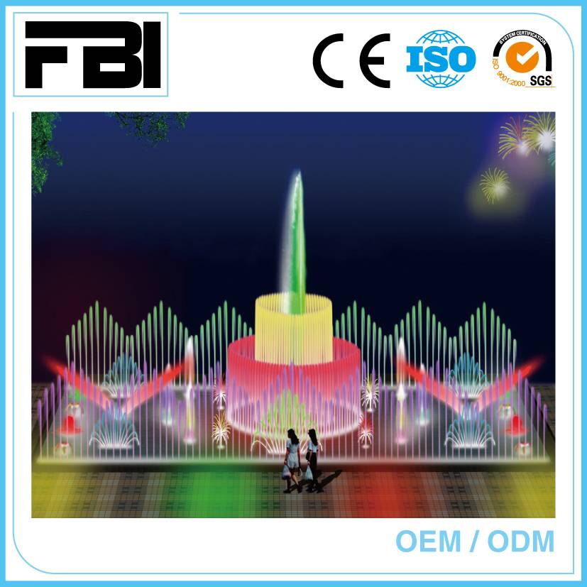 dancing fountain for plaza or shopping mall, park