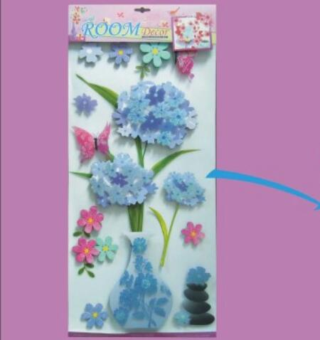 3D flowers decor decal stickers zhejiang safe wall sticker