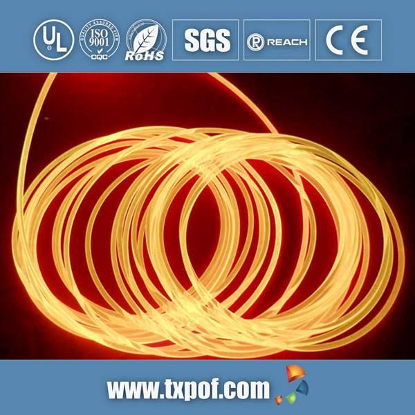 Side Pointed Emitting Fiber, Side Glow Fiber, Side Light Fiber, Fiber Optic For Lighting And Decorat
