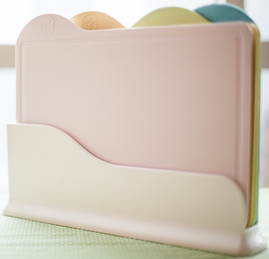 Cornstarch Cutting Board Set 4pcs with Stand for Weaning food