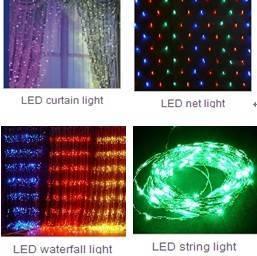 LED Christmas--curtain / net / waterfall light