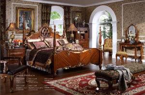 European antique reproduction Wood Bedroom Set / Wooden Furniture