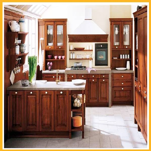 solid wood home kitchen cabinet kitchen furniture