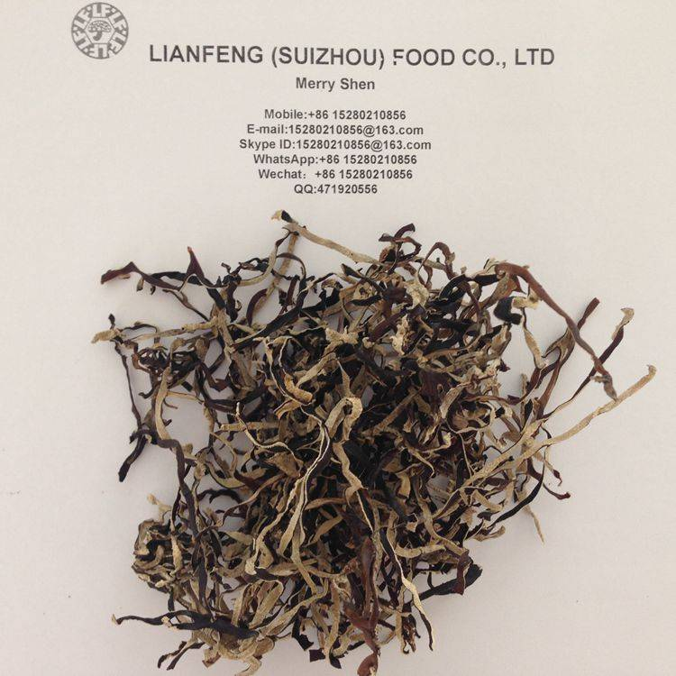 Bulk Dried White Back Black Fungus Slices with 2MM Thickness