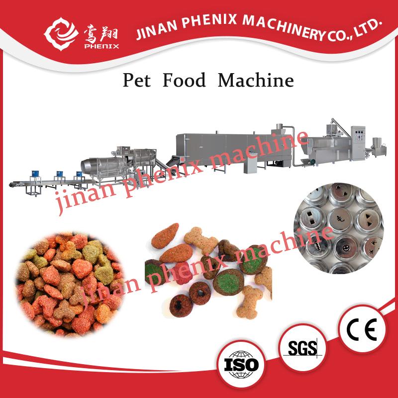 dried pet cat food extruder making machine