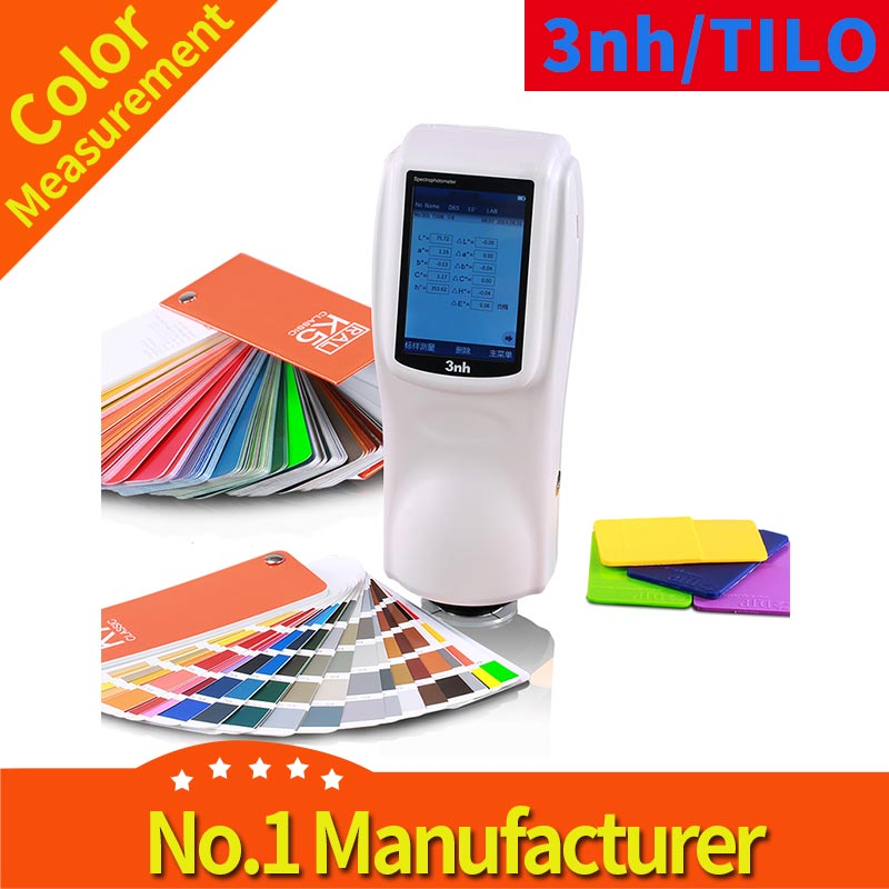 3NH Ns820 Color Spectrophotometer D/8 with Opacity Whiteness Yellowness Function and 4mm Small