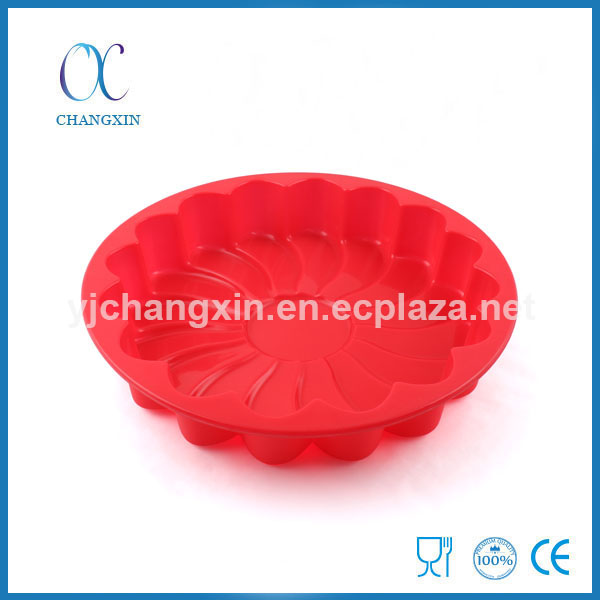 Flower Shape Round Microwave Silicone Bundt Cake Pan