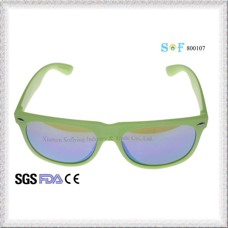 2016 CE FDA Cheap Fashion Customized OEM Eyewear with Flat Color Mirror Lenses