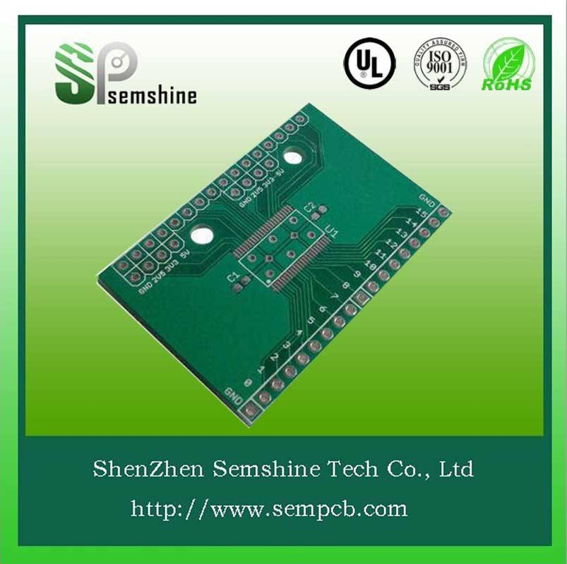 Green solder mask double sided pcb assembly