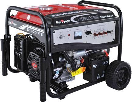 Portable Gasoline Engine Mobile Power Generator
