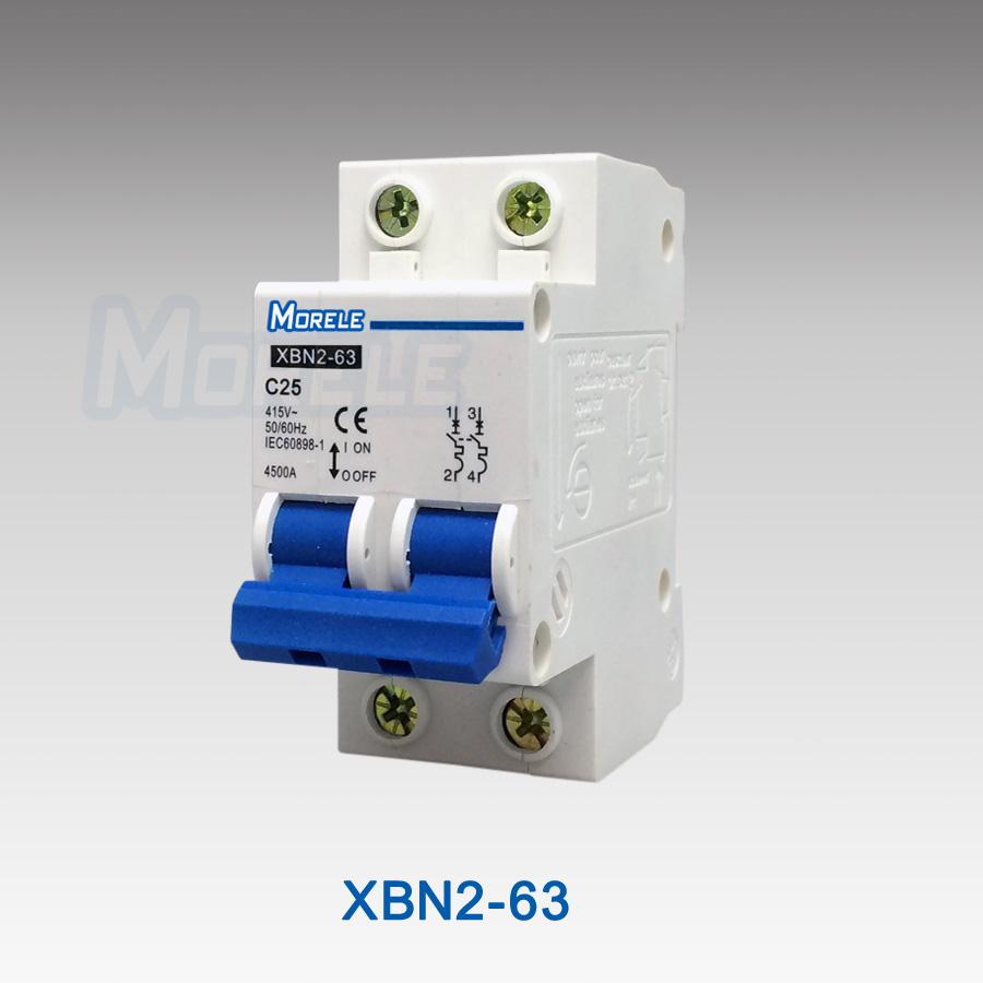 XBN2-63 2p c45 miniature mcb