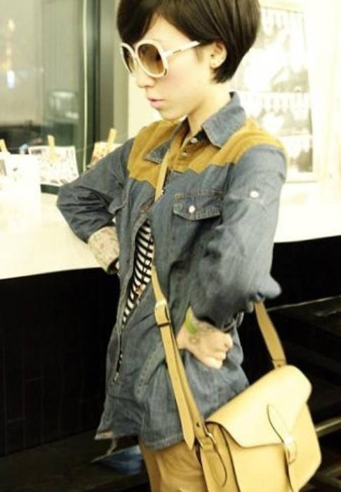 Hot Fashion Jeans+Leather Tops,Long Sleeves Tops