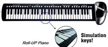 Roll up silicone piano