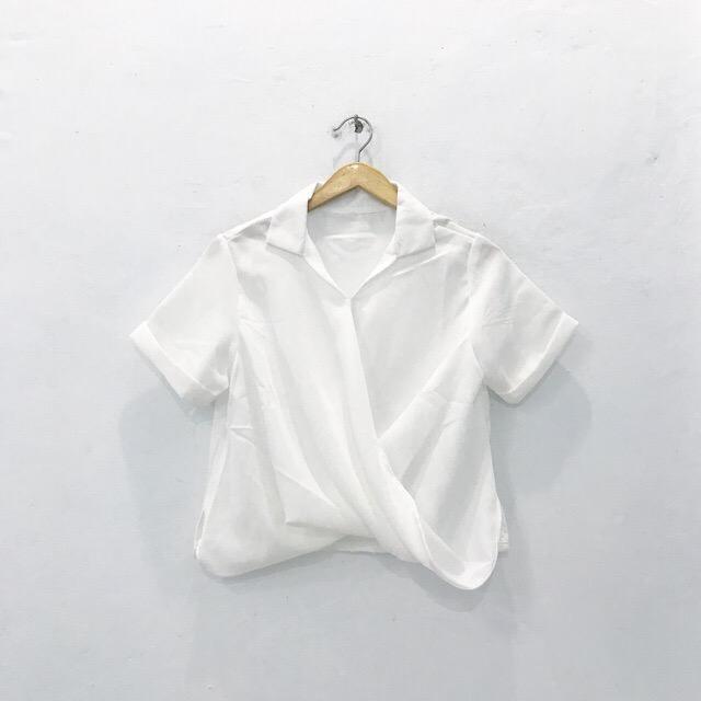 Basic Wrap Top (WHITE)