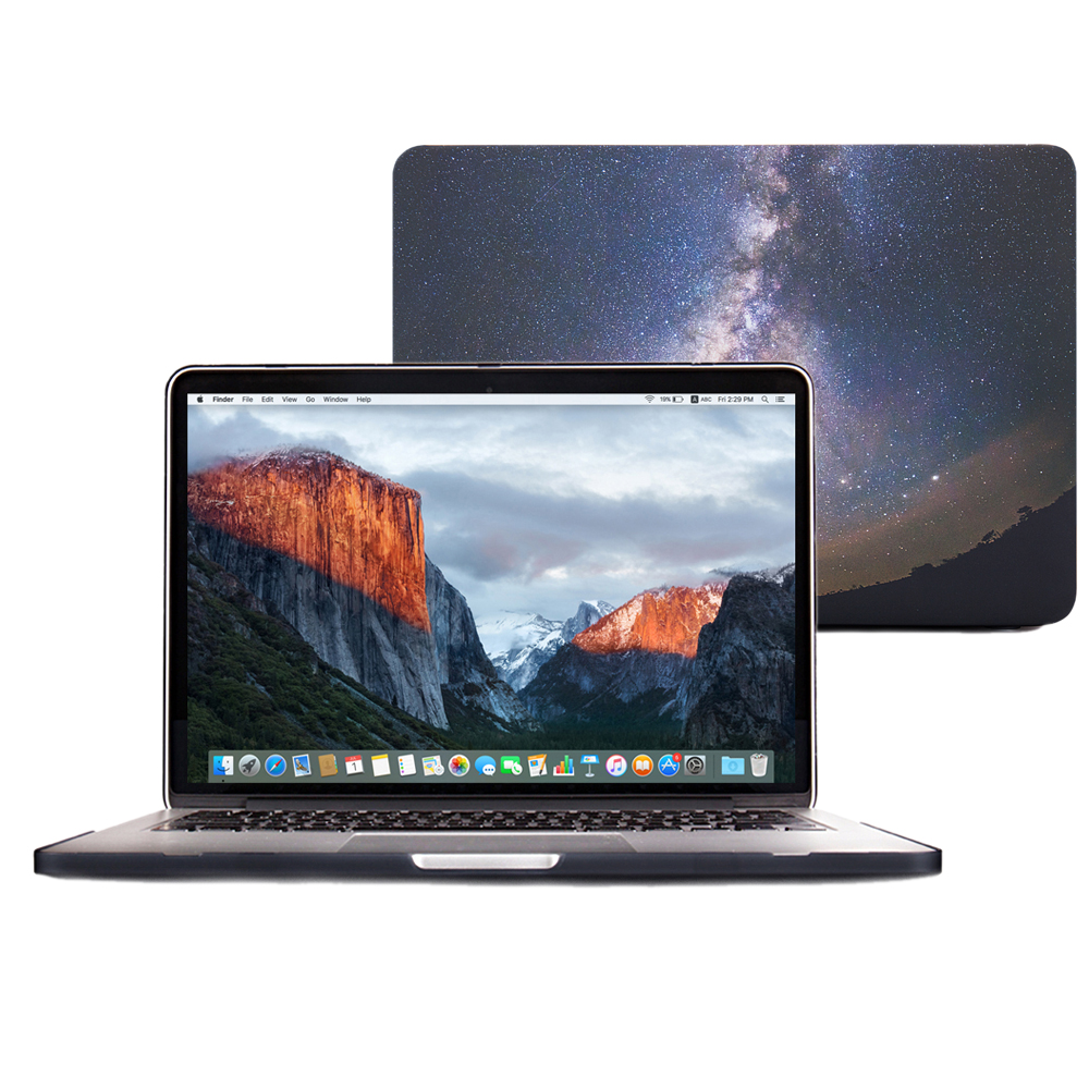 2017 best selling Galaxy design, fully protected MacBook 12 inch hard PC box, used for lace MacBook,