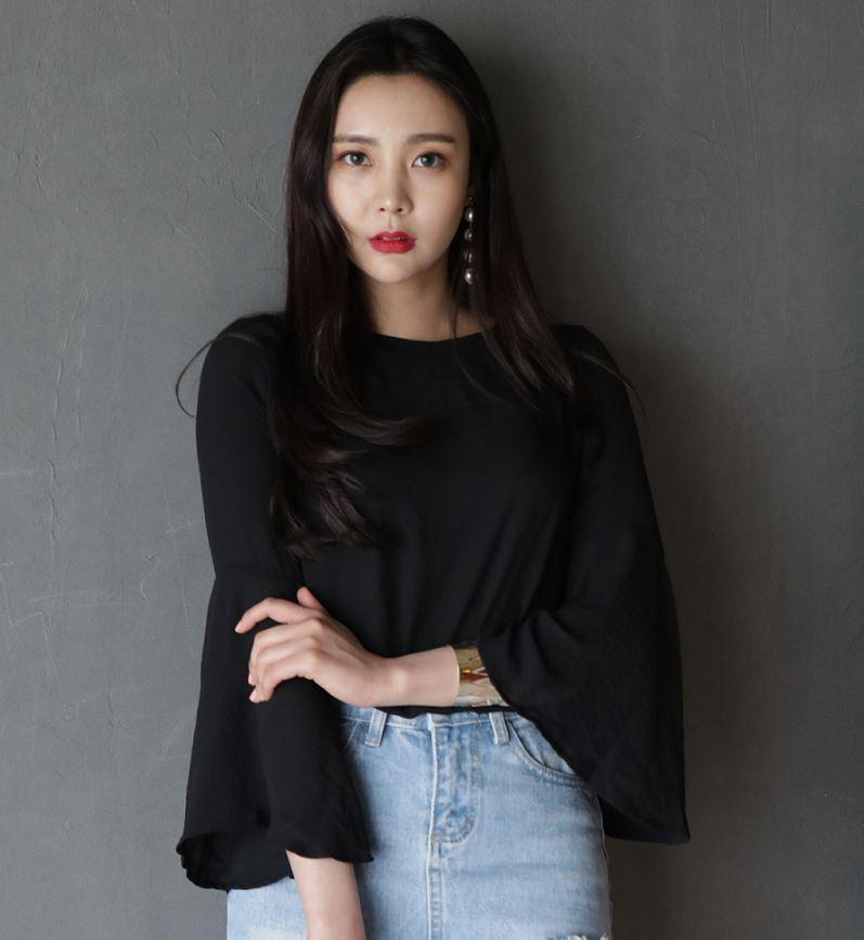 New style Horn 3/4 Sleeve blouse