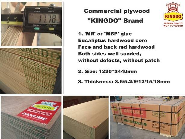 KINGDO COMMERCAIL PLYWOOD/FURNITURE GRADE PLYWOOD
