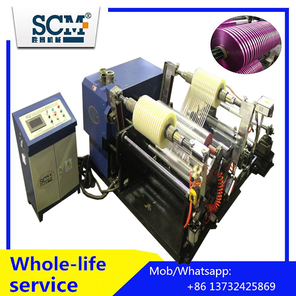 PVC/PET,BOPP tape slitting and rewinding machine