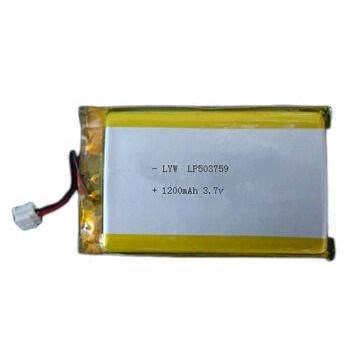 Best Selling 3.7V 1,200mAh Lithium-ion Battery for iPod, MP3, GPS and PSP, 5.0mm Thickness