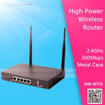 2.4G 300Mbps 2T2R MIMO High power wifi router MT58 for Advertisement