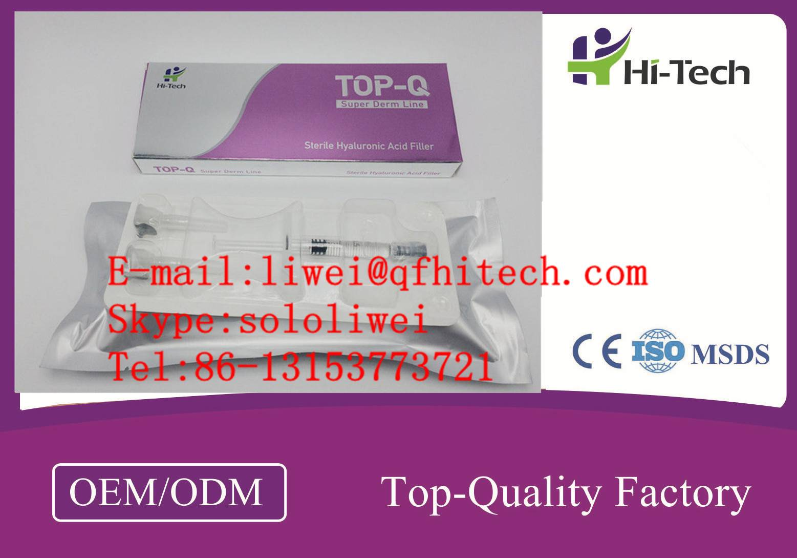 HA Content 1.2mg/ml Mesotherapy Sodium Hyaluronate Gel Skin Rejuvenation Solution
