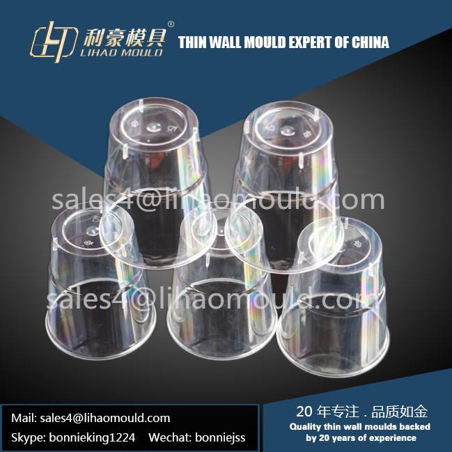 PS high polish disposable thin wall cup mould supply